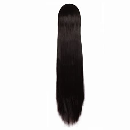 MapofBeauty Black Long Straight Cosplay Costume Wig Fashion Party Wig