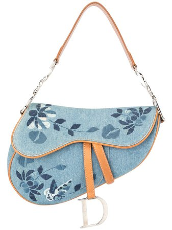 Christian Dior pre-owned embroidered Saddle bag with Express Delivery - Farfetch