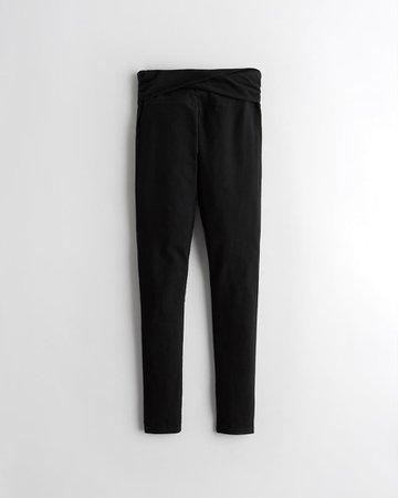 Ultra High-Rise Jersey Leggings | Bottoms | HollisterCo.ca