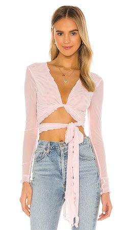 Lovers + Friends Camila Top in Ballet Pink   REVOLVE