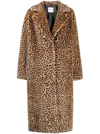 Stand Leopard Print Coat - Farfetch