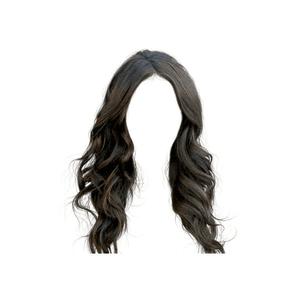 Curly Black Dark Brown Hair