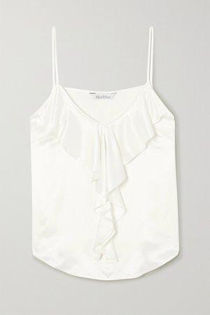 White Ruffled silk camisole | Max Mara | NET-A-PORTER