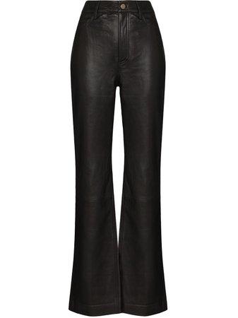 REMAIN Lynn Leather straight-leg Trousers - Farfetch