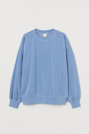 Relaxed Fit Sweatshirt - Light blue - Ladies | H&M US