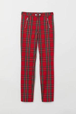 Fitted Slim-fit Pants - Orange