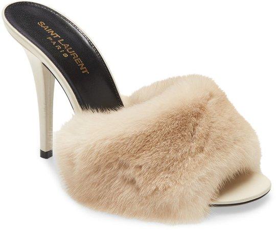 Roy Genuine Mink Fur Sandal