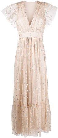 Glitter Detail Maxi Dress