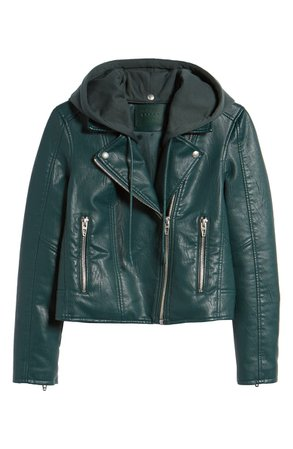 BLANKNYC Meant to Be Moto Jacket with Removable Hood | Nordstrom
