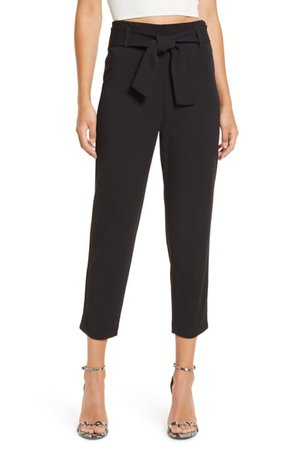 Leith Belted Tapered Pants | Nordstrom