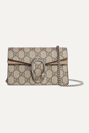 Gucci   Dionysus super mini printed coated-canvas and suede shoulder bag   NET-A-PORTER.COM