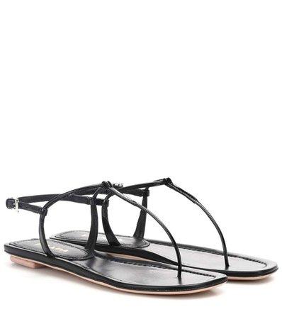 Prada Black Sandals - Womens's Prada Leather sandals