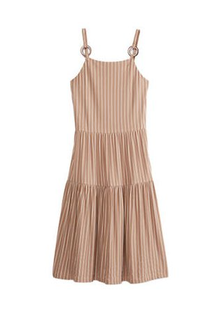 Speechless Junior's Spaghetti O Ring Strap Tiered Midi Dress