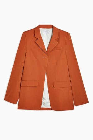 **Wool High Break Blazer By Boutique | Topshop orange