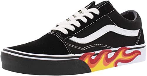 Amazon.com | Vans Unisex Flame Cut Out Old Skool Black/True White Sneaker - 9 | Shoes