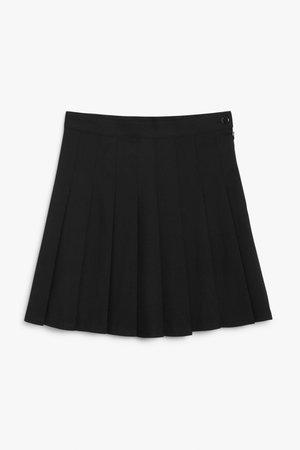 Tennis skirt - Black - Mini skirts - Monki WW