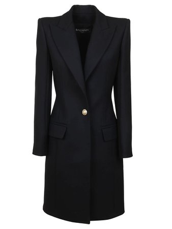 Balmain Balmain One Button Wool Coat - Pa Noir - 10989342 | italist