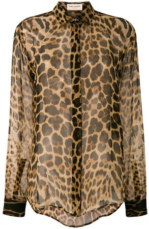 sheer leopard print shirt