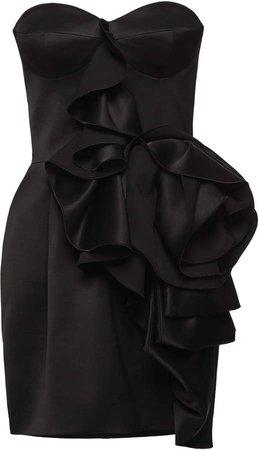 Magda Butrym Ruffled Floral Detail Mini Dress