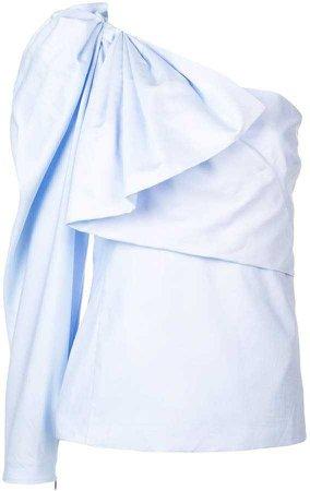 Stella McCartney draped one-shoulder blouse
