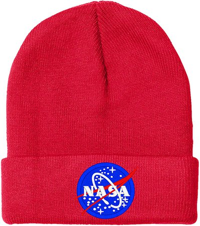 Amazon.com: I-Mall NASA- Beanie-Black: Clothing