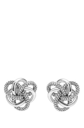 LAGOS 'Love Knot' Sterling Silver Stud Earrings | Nordstrom