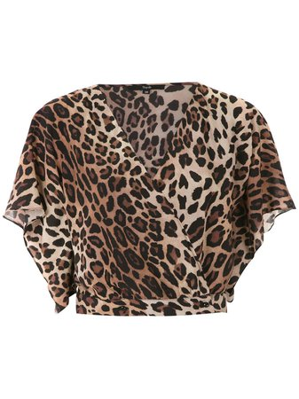 Magrella cropped animal print top $375 - Buy Online - Mobile Friendly, Fast Delivery, Price