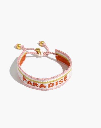 Woven Word Bracelet