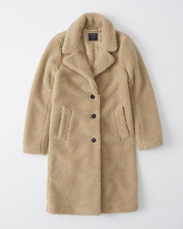 Womens Sherpa Dad Coat   Womens Coats & Jackets   Abercrombie.com