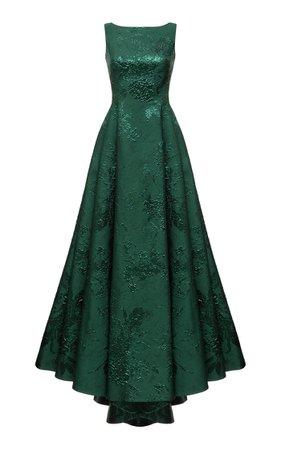 Open-Back Jacquard Maxi Dress By Rasario | Moda Operandi