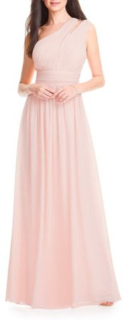 One-Shoulder Chiffon A-Line Gown