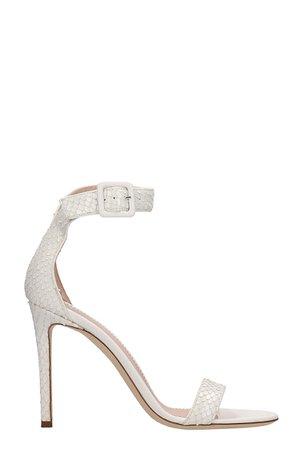 Giuseppe Zanotti White Leather Sandals