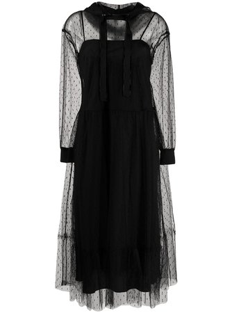 RedValentino Point d'esprit Hooded Tulle Dress - Farfetch
