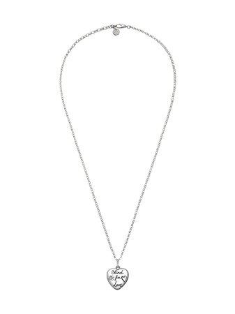 "Metallic Gucci ""Blind For Love"" Necklace In Silver   Farfetch.com"