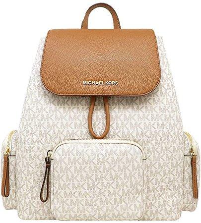 Michael Kors Abbey Large Signature Cargo Backpack (Vanilla)