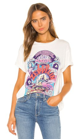 DAYDREAMER Led Zeppelin Electric Magic Weekend Tee in Vintage White | REVOLVE
