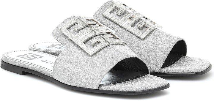 4G embellished glitter sandals