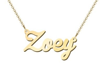 Zoey Gold Name Necklace