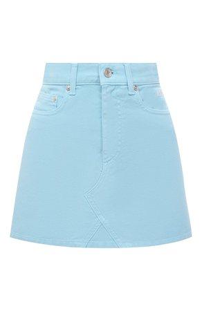 Женская голубая джинсовая юбка MSGM — купить за 21050 руб. в интернет-магазине ЦУМ, арт. 3041MDD40TX 217282