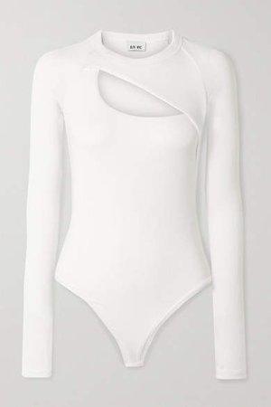 Alix Nyc Alix NYC - Summit Cutout Ribbed Stretch-modal Jersey Bodysuit - White