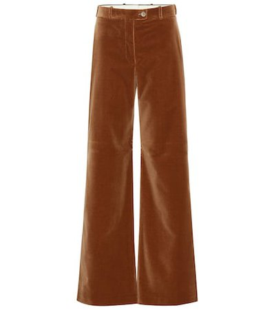 High-rise flared velvet pants
