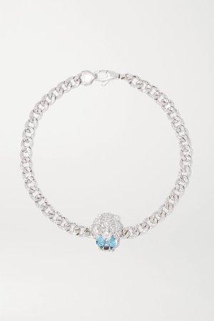 White gold 18-karat white gold, diamond and aquamarine bracelet | Gucci | NET-A-PORTER