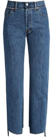 X Levi's Reworked Straight Leg Jeans - Womens - Blue