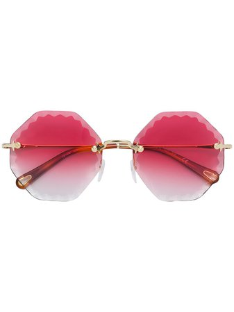 Chloé Eyewear Rosie geometric-frame sunglasses - FARFETCH