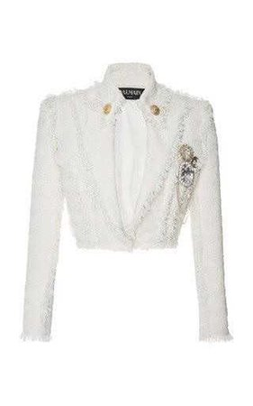 Cropped Tweed Jacket by Balmain