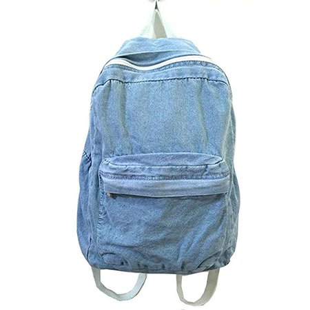 Amazon.com | School Backpacks for Women Mens Canvas College Backpack Classic Denim Student Satchel School Bag Jeans Travel Purse Daypack | Kids' Backpacks