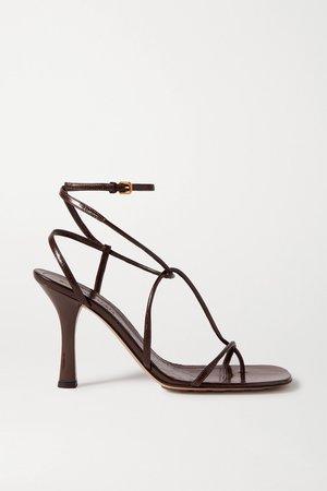 Brown Leather sandals | Bottega Veneta | NET-A-PORTER