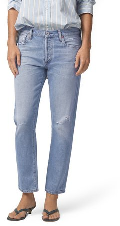 Emerson Distressed Slim Fit Boyfriend Jeans