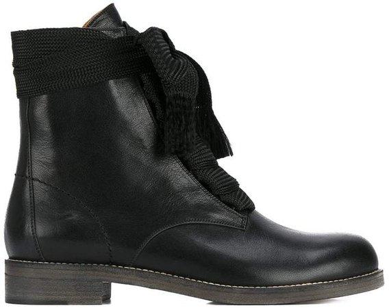 Black Harper Flat Boots