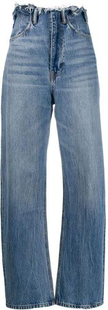 paperbag waist tapered jeans